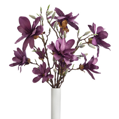 Faux Magnolia Spray - Set of 3
