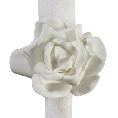 Village Flower Napkin Ring - Set Of 4