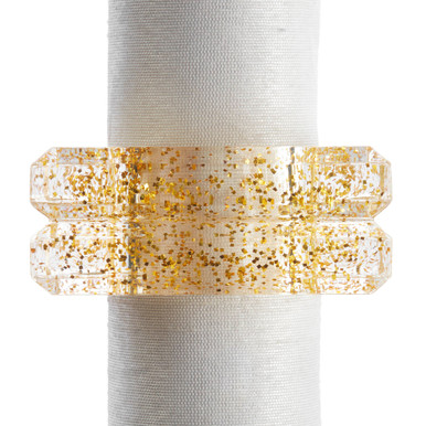 Acrylic Glitter Napkin Ring - Set of 4