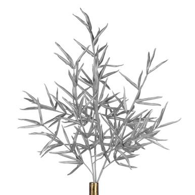 Metallic Leaf Stem - Set of 3