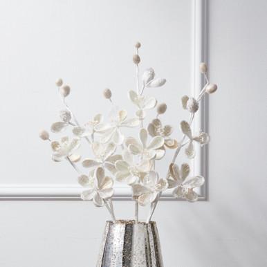 Beaded Magnolia Stem - Set of 3