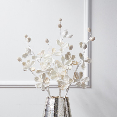 Beaded Magnolia Stem - Set of 3