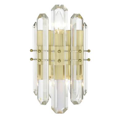 Fallon 2 Light Sconce - Aged Brass