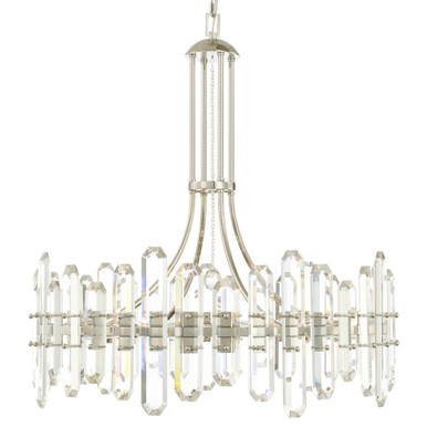 Fallon 12 Light Chandelier - Polished Nickel