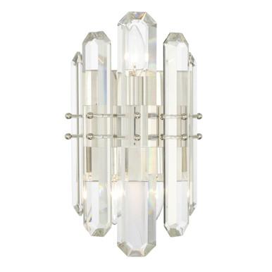 Fallon 2 Light Sconce - Polished Nickel