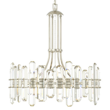 Fallon 8 Light Chandelier - Polished Nickel