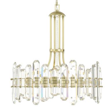 Fallon 8 Light Chandelier - Aged Brass