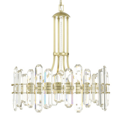 Fallon 8 Light Chandelier - Aged Brass
