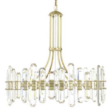 Fallon 12 Light Chandelier - Aged Brass