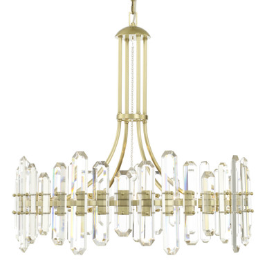 Fallon 12 Light Chandelier - Aged Brass