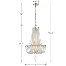 Loren 4 Light Chandelier