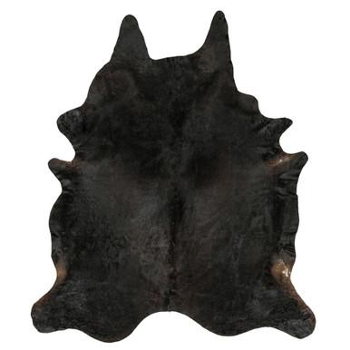 Collins Hair On Hide Rug - Black