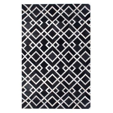 Stratton Hair On Hide Rug - Black