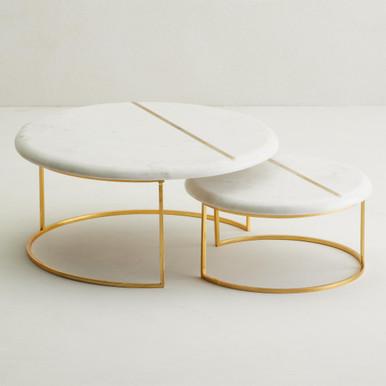 Marble Nesting Trays - Set of 2