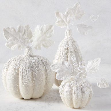 Beaded Pumpkins and Gourd