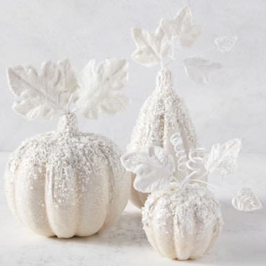 Beaded Gourd And Pumpkins