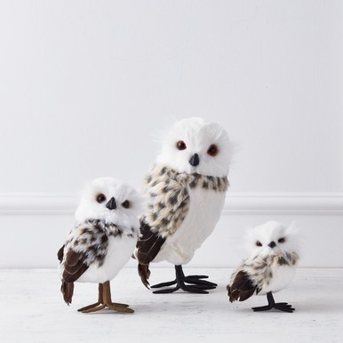 Snow Leopard Owl - Set of 2