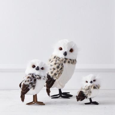 Snow Leopard Owl - Set of 2