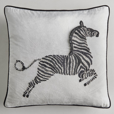 Zebra Pillow 22""