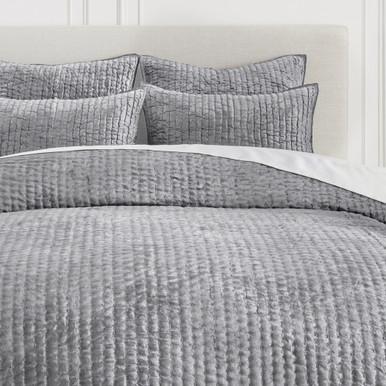 Mardon Velvet Bedding - Silver