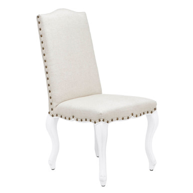 Florette Dining Chair - High Gloss White