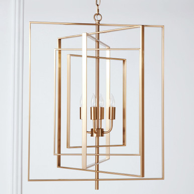 Hollis Chandelier - Brass