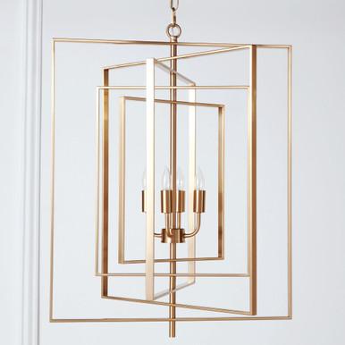 Hollis Chandelier - Brass