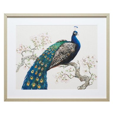 Peacock And Blossoms 1