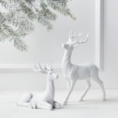 "Majestic Deer - 8""H & 14""H"