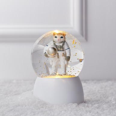 Astronaut Cat Snow Globe