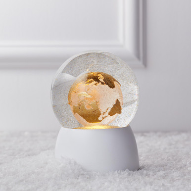 World Globe Snow Globe