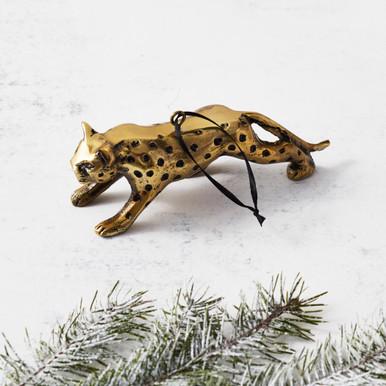 Brass Cheetah Ornament
