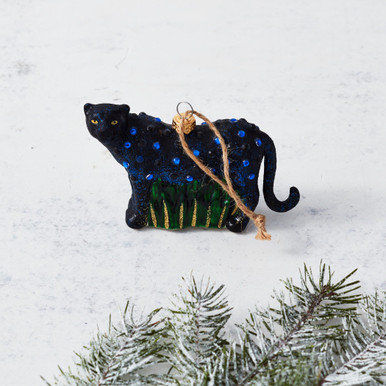 Jeweled Panther Ornament