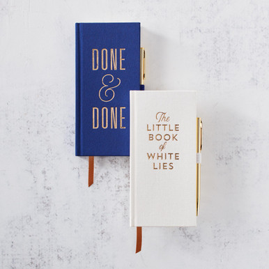 White Lies and Done & Done Journal