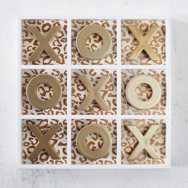 Leopard Tic Tac Toe - Gold