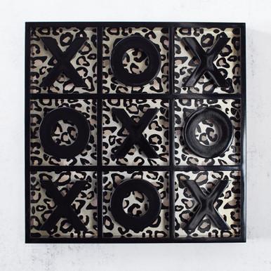 Leopard Tic Tac Toe - Black