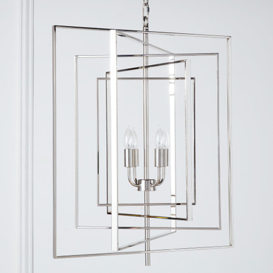 Hollis Chandelier - Polished Nickel