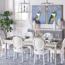 Camille Dining Chair - High Gloss White