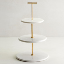 Marble 3 Tiered Stand