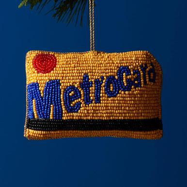 Beaded Metrocard Ornament