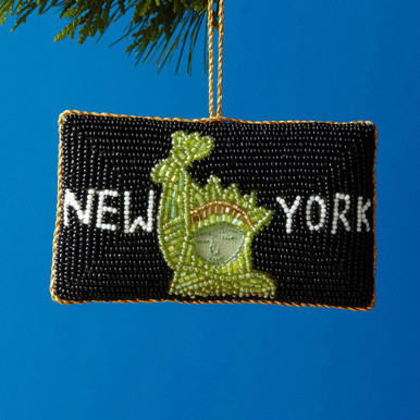 Beaded Statue of Liberty Marquee Ornament