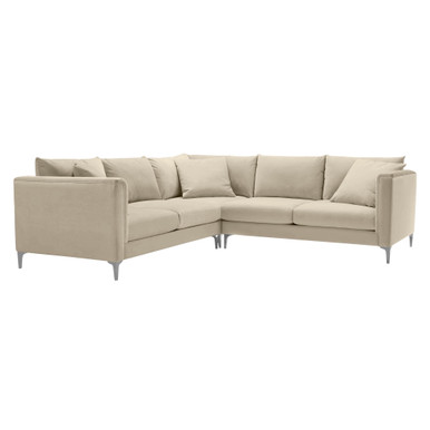 Details 3 PC Soft Roll Arm Sectional