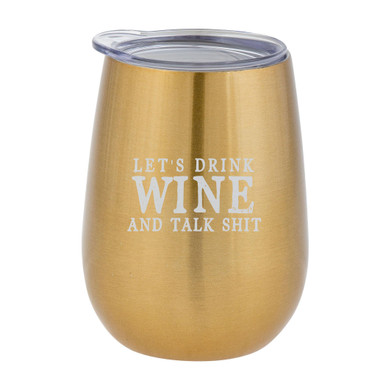 Let's Drink Wine Tumbler