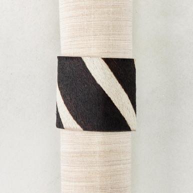 Zebra Napkin Ring - Set of 4