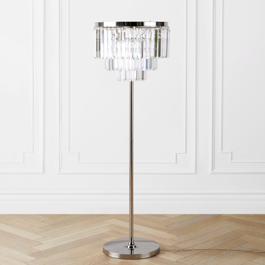 Luxe Crystal Floor Lamp