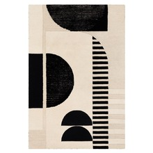 Ellery Rug - Black/Ivory