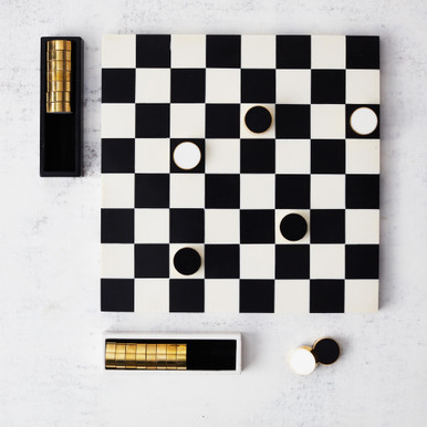 Black And White Checkers