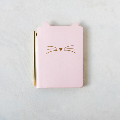 Pocket Journal with Pen Kitty Cat