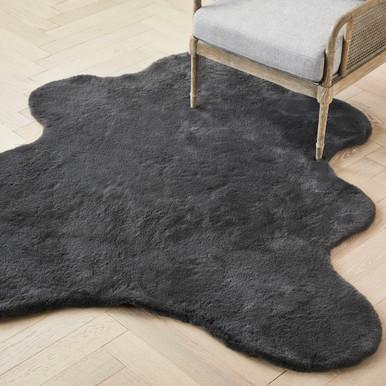 Lapin Animal Shape Rug - Slate
