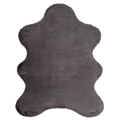 Lapin Animal Shape Rug - Slate